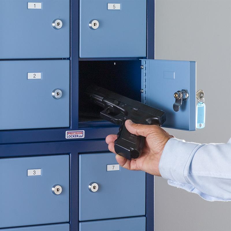 Stackable Pistol Lockers For Law Enforcement Precision